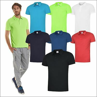 Uneek MENS ULTRA COOL POLOSHIRT Polyester Breathable Wicking Light Soft Polo TOP