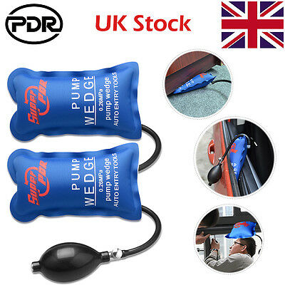 2x Air Pump Wedge PDR Inflatable Automotive Tool Entry Shim F Car Door Window UK