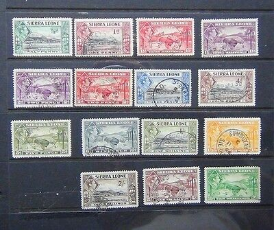 Sierra Leone 1938 - 44 values to 10s Used