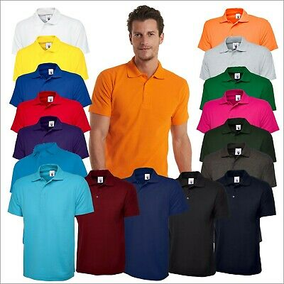 Unisex Men's Classic Poloshirt Plain Short Sleeve Top T-Shirt Polo Tee shirt Lot