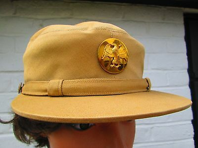 Original WW2 WAAC WAC Members Summer Cap Hobby Hat Sz 22 ""