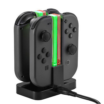 Power Dock Station Joy-Con Controller Charging Charger per Nintendo Switch AC799