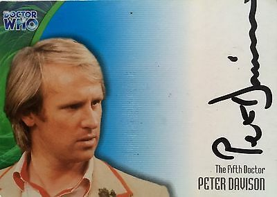 Strictly Ink Doctor Dr Wh0 Definitive Series 3 Peter Davison Auto Card Au20