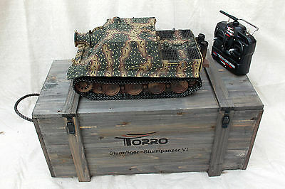 Torro 1/16 RC German Sturmtiger BB Tank 2.4GHz Metal Edition with Wooden Box