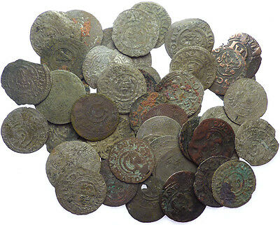 LOT OF 50x Very Old Sweden Solid Schilling Silver Coins  #X4