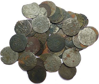 LOT OF 50x Very Old Sweden Solid Schilling Silver Coins  #X6