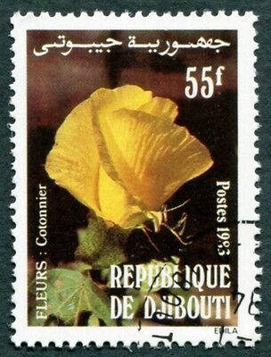 DJIBOUTI 1983 55f SG880 used NG Flowers Cotton flower #W30