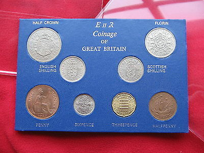 *RARE* 1967 GREAT BRITAIN TYPE SET OF  8 COINS 50th  BIRTHDAY GIFT