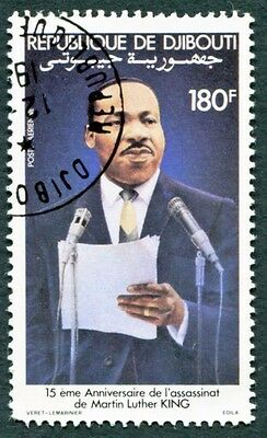 DJIBOUTI 1983 180f SG881 used NG Celebrities Martin Luther King AIRMAIL b #W30
