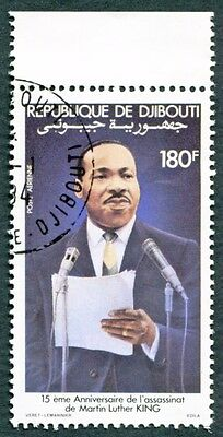 DJIBOUTI 1983 180f SG881 used NG Celebrities Martin Luther King AIRMAIL h #W30