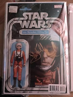 Star Wars 11 Action Figure variant SIGNED BY Mark Hamill