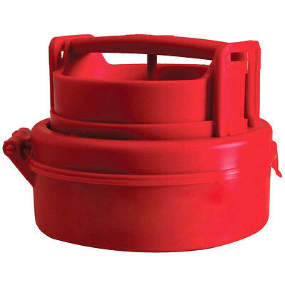 Stuffed Hamburger Burger Press Mould Plastic Novelty Compact Kitchen Tool Red PK