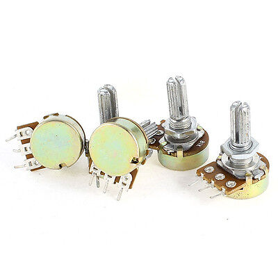 5 Pcs B1K 1K Ohm Metal Shaft Single Linear Rotary Taper Potentiometer PK