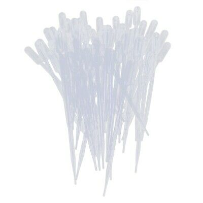 50 Pieces 10ml Clear Plastic Transfer Pipet Pasteur Pipettes Droppers PK