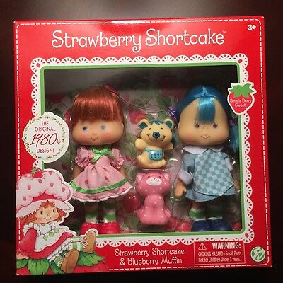 NEW!!! Strawberry Shortcake and Blueberry Muffin Classic Retro Dolls