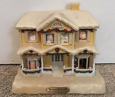 Norman Rockwell Twas the Night Before Christmas Story Telling House Led Lights