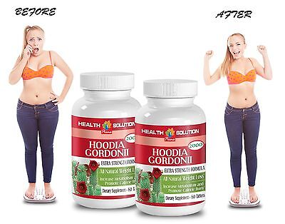 Natural Weight Loss - HOODIA GORDONII EXTRACT 2000 - Fat Burner For Men 2 Bot