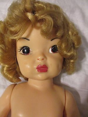 "Terri Lee Doll 16"" Blonde Original Curls 1950's No Touch Up on Paint"
