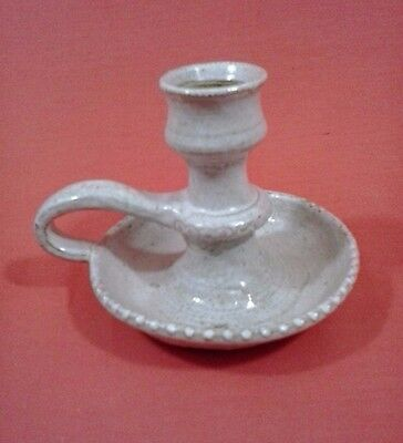 Left-Handed Russell Henry Hay Creek Pottery Candlestick
