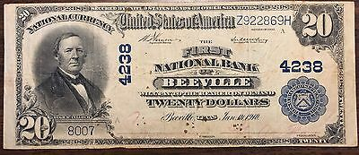 1902 $20 First National Bank of Beeville, Texas Charter # 4238