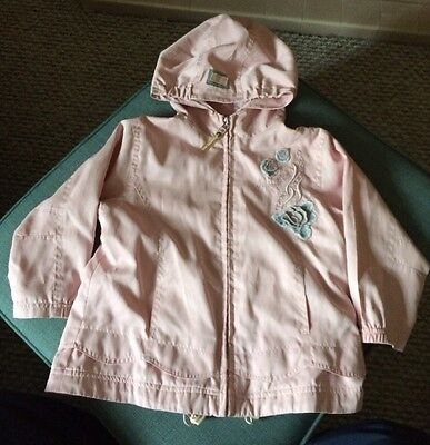 Girls Pink Rain Jacket Aged Approx 4-5 Years