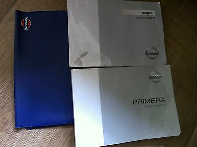 Nissan Primera Type P12 Owners Handbook / Manual / Wallet  2001 - 2008