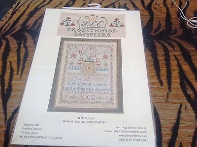 Bn Cross Stitch Chart Words & Actions Traditional Sampler