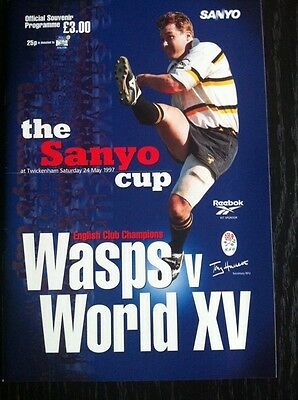 WASPS v WORLD XV 1997 SANYO CUP RUGBY PROGRAMME
