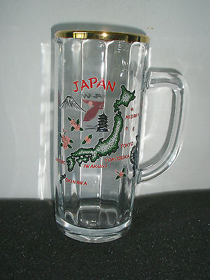 Vintage U.S. Military Bases In Japan Glass Mug - Okinawa - Made In France