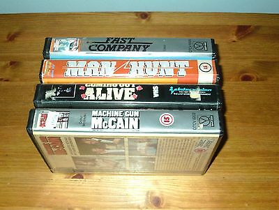4 x Ex-Rental Pre-Cert Big Box VHS Videos - Quality Intervision EIV
