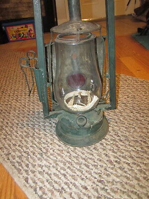 Dietz Old Used Victor Wagon Lamp Army Green