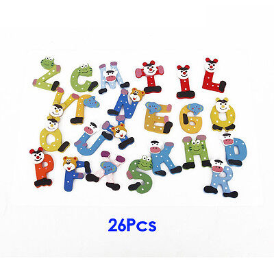26 Letters Alphabet Wooden Magnets For Refrigerator Home Decoration PK