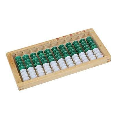 Wooden Framed 9-bead 11 Digits Abacus Counting Frame Kids Math Education PK