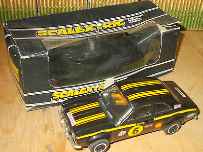 Scalextric C052 Ford Escort Mexico Special Build Black #6 Good Condition Boxed