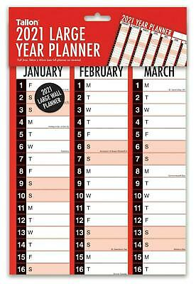 2019 Year Large A1 Size Flat Wall Planner Family Office Organiser Calendar 3819