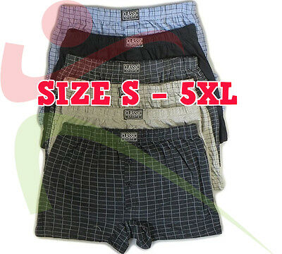 3 6 12 Pack Mens Classic Sports Cotton Jersey Boxer Shorts Pants Underwear Brief