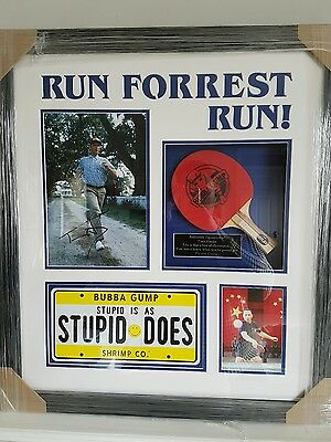 Tom Hanks Signed Forrest Gump Amazing Film Memoribliia Table Tennis Bubba Gump