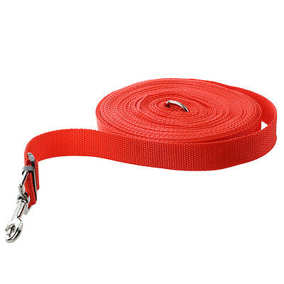 Red 50ft/15m Long Dog Pet Puppy Training Obedience Lead Leash V8H3