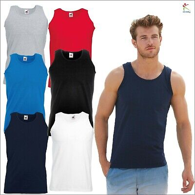 Fruit of the Loom Men's CLASSIC FIT TANK TOP SLEEVELESS T-SHIRT Sports Casual