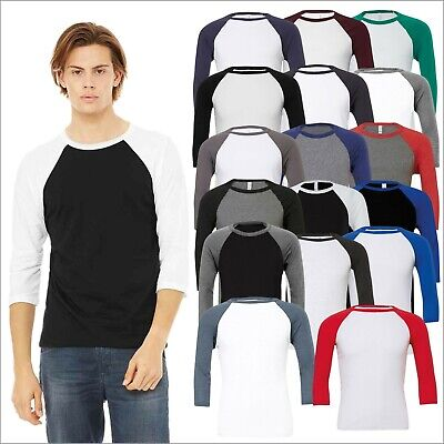 Unisex Men's Women's Triblend ¾ SLEEVE BASEBALL T Tee Shirt Tshirt T-Shirt Lot