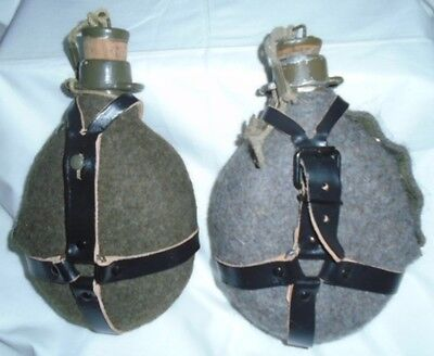 Original Czech Army Water Canteen Bottle With Cork Closure Mint
