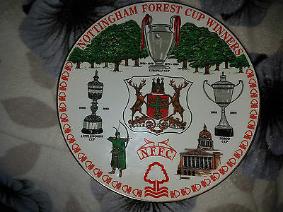 VERY RARE - NOTTINGHAM FOREST CUP WINNERS - bone china plate