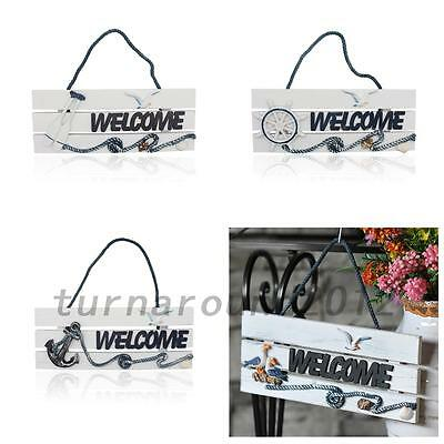 Fashion Wall Door Hanging Wooden Welcome Sign Plaque Board Home Garden Decor