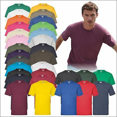 Fruit of the Loom Cotton Plain Blank Men's Women's Tee Shirt Tshirt T-Shirt TOP