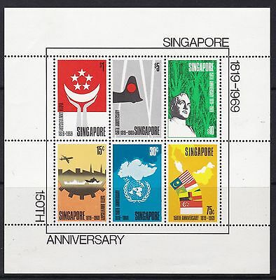 Singapore 1969 Anniversary Miniature Sheet Mint, Cat £375