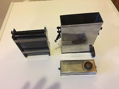 Vintage BECOVAL FIELD PLATE DEVELOPING TANK CAMERA PHOTOGRAPHIC STAINLESS STEEL