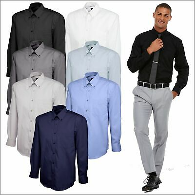 Mens Long Full Sleeve Premium Formal Pinpoint Oxford Dress Shirt Office Wear Lot