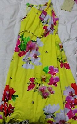 New with Tag Girls Ted Baker Floral Summer Dress with Belt UK Age 11-12