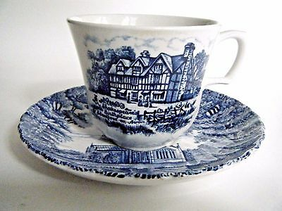 Royal Essex Stoneware Cup & Saucer Shakespear's Birthplace Trinity Church