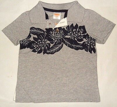 GYMBOREE Infant Boys OUTDOOR EXPLORER Hibiscus TOP Polo Shirt Sz 6-12 months NWT
